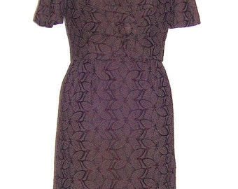 Jane Victor brown structured dress