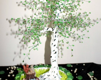 Birch Forest beaded tree sculpture!