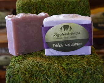 Patchouli and Lavender Soap - organic, handmade, all natural, cold process, vegan