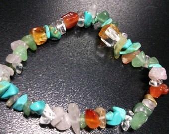 Multicolour stone chips bracelet