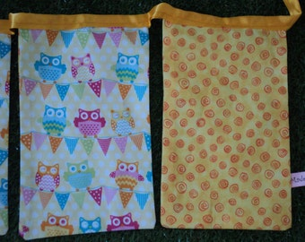 Wise Owls Bunting - Yellow