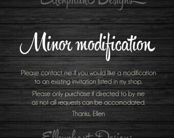 Minor modifiction request
