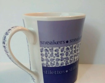 Harbor East Fashion Couture Sneakers Stilettos Coffee Mug Purple Lavender