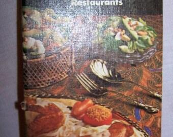 Vintage Benson & Hedges 100 Restaurant Recipe Book