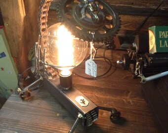 Steampunk Lamp by Steam City Lamps, Mad Scientist