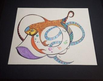 Abstract Drawing--Koi-leidoscope