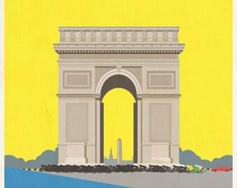 Retro Style Tour de France