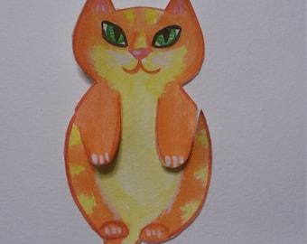 CAT BOOKMARK ,plastified