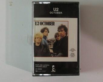 U2 October Cassette 1981