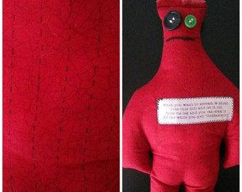 Dammit Doll: Red Stitched