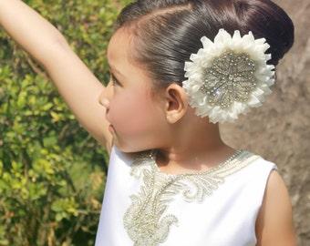 flower girl headpiece, rhinestone headpiece, bridesmaid headpiece, girls headpiece,bridal headpiece,