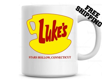 Luke's Diner Mug Coffee Mug, Gilmore Girls Stars Hollow Connecticut