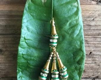 Green gold tassels jewelry making charms baubles, bulk craft supplies, jewellery making, metal charms, jewelry craft supplies, wholesale