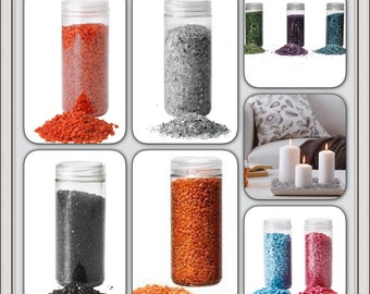 IKEA KULÖRT KULORT Decoration stones/700g / Blue,Pink, Black,Silver,Green,Purple