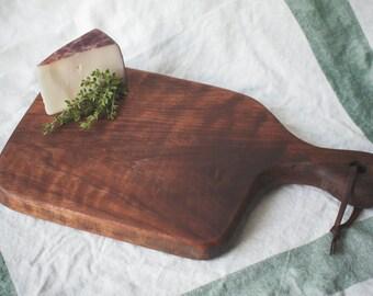 hand made walnut cutting board / bar board / charcuterie and cheese board