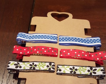 Ribbon Covered Alligator Clips
