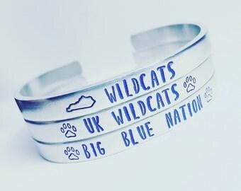 Big Blue Nation - Kentucky Wildcats Metal Cuff