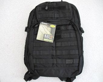 NWT 5.11 Tactical Rush 24 Backpack Black