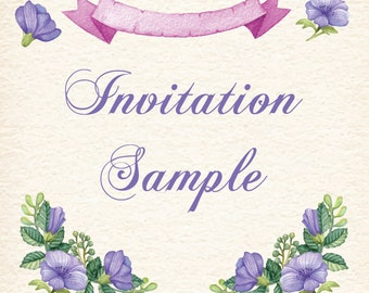 Invitation Sample Explanation: Please, notify us your request samples.