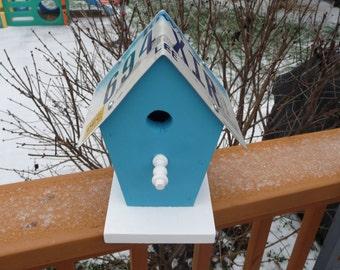 Iowa License Plate Birdhouse