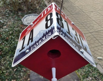 "Idaho ""Famous Potatoes"" License Plate Birdhouse"