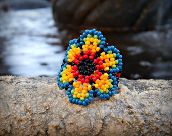 Beaded Huichol Mexican Ring *Different colors available*