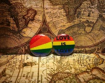 Lesbian/Gay pride 1inch button set