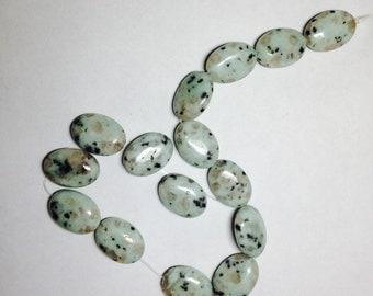 Sesame jasper oval beads