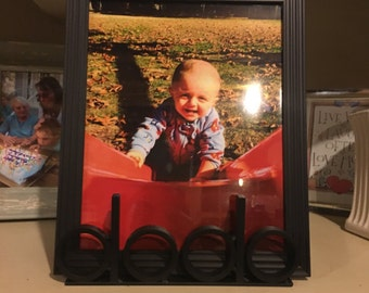 Personalized picture frame holder