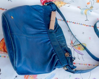 ABBA-time-leather shoulderbag, 80s, good condition