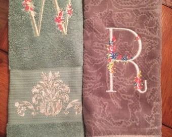 Monogrammed hand towels!