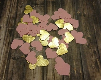 Pink & Gold Heart Confetti