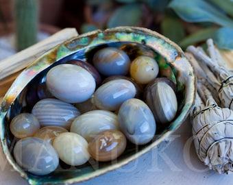 Agate Egg Specimen | Tumbled Polished Stone | Healing Stones | Healing Crystals | Crystal Specimen
