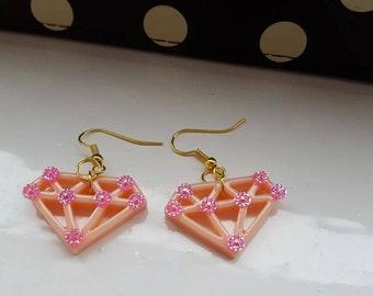 Diamond Jewel Drop Earrings