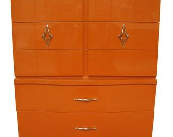 Orange Dresser