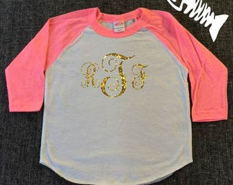 Toddler Boy, raglan, baseball tee, toddler girl, trendy boy, tshirts, Monogram shirt. Girls monograms