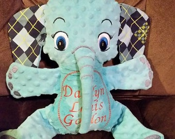 Memory elephant or personalized stuffed elephant!