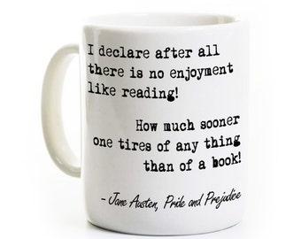 Pride and Prejudice Mug - Jane Austen Coffee Mug - Gift for Reader and Book Lover - English Teacher Gift Travel