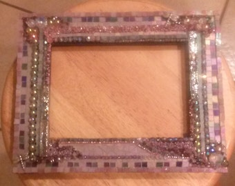 Mosaic stained glass photo frame