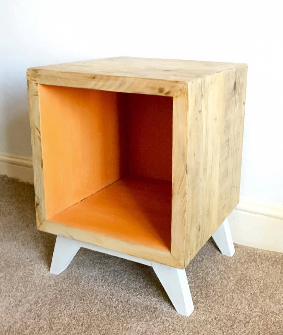 Rustic Vinyl Storage Unit Record Storage Cube Stereo Stand