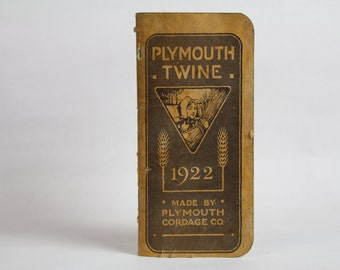 Vintage 1922 Plymouth Twine note book