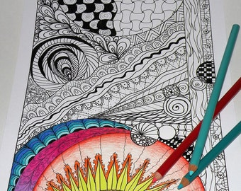 Zentangle- Printable Coloring Page