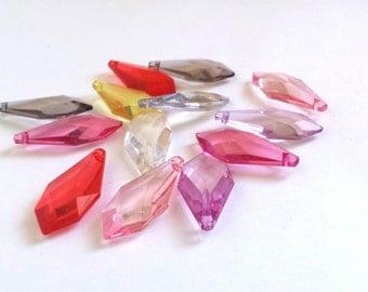 Teardrop, petal, drop, acrylic charm, drops, tears-12 pcs