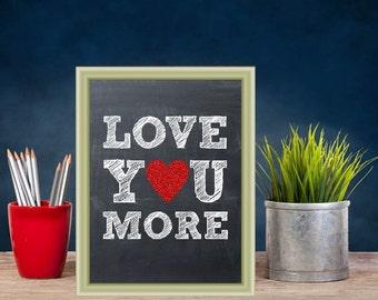 Printable art, Love you more, wall art printable, nursery art, directions print