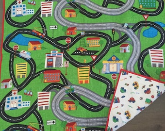 City streets baby quilt