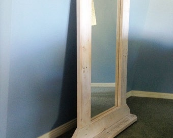 Shabby Chic Lime Washed Mirror
