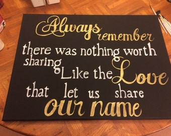 Our name quote canvas