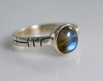 Labradorite Ring ~ Labradorite Silver Ring ~ Labradorite ~ 925 Sterling Silver ~ Silver Ring ~ Handmade Ring ~ Midi Ring ~ Size 3 to 14 US