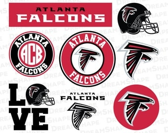 Atlanta Falcons SVG Files, American Football Atlanta Falcons SVG Cut Files, Atlanta Falcons Football, Atlanta Falcons SVG, Instant Download