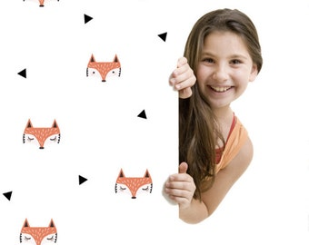 Wall Stickers Fox Vinyl Kids Room Pattern Decal Sticker Foxes Wall Decals Matte Vinyl